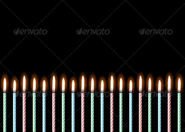 Happy Birthday. Vector illustration  - Backgrounds Decorative