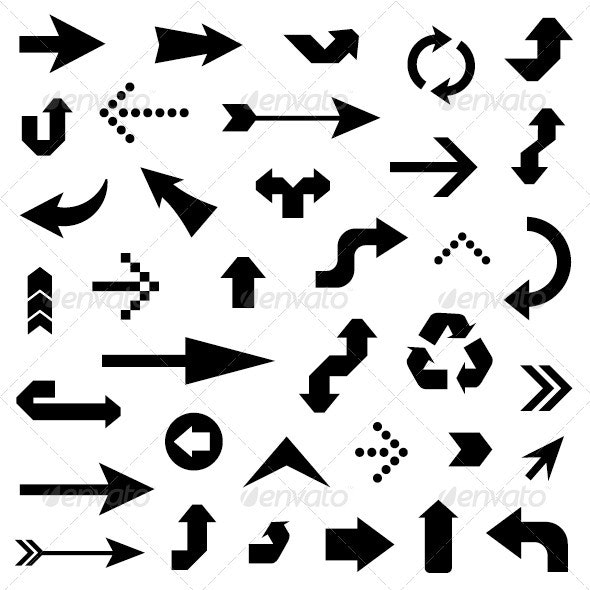 Black Arrows  - Decorative Symbols Decorative