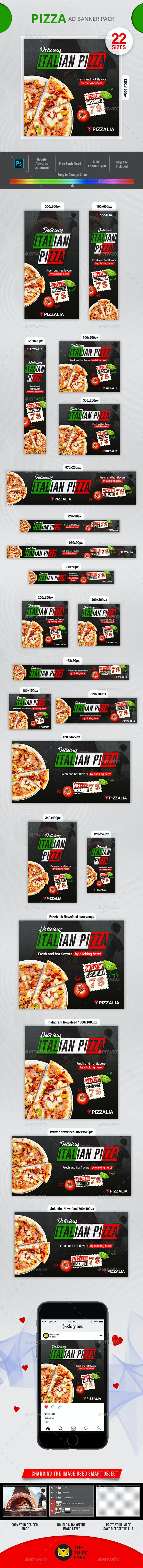 Pizza Banner - Banners & Ads Web Elements