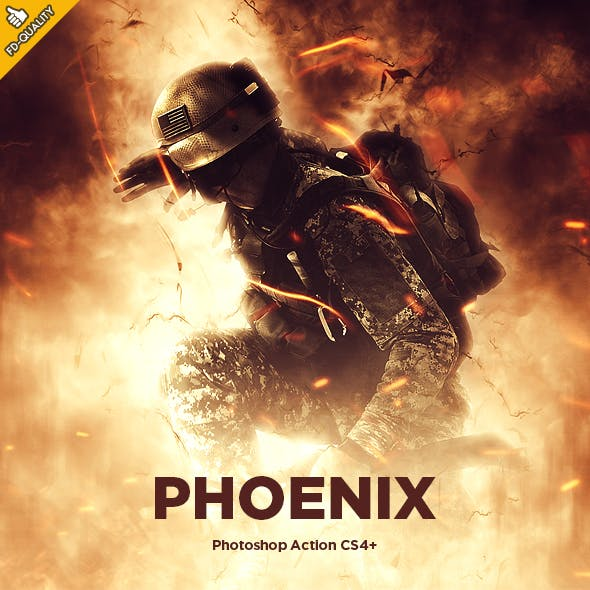 Phoenix CS4+ Photoshop Action