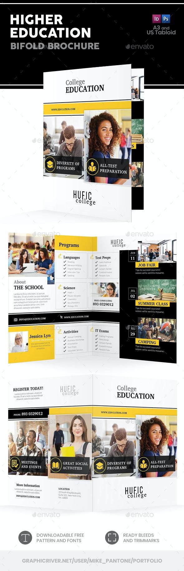 Higher Education Bifold / Halffold Brochure - Informational Brochures