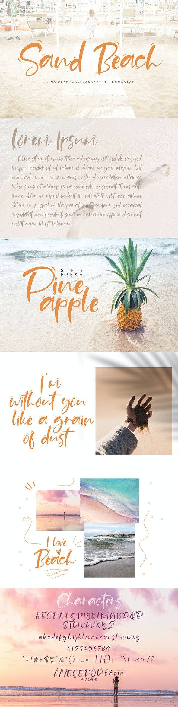 Sand Beach Script - Script Fonts