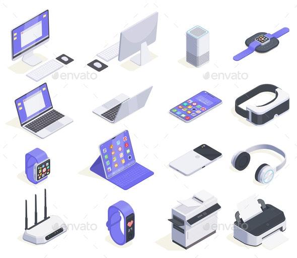 Electronic Accessories Icon Set - Miscellaneous Vectors
