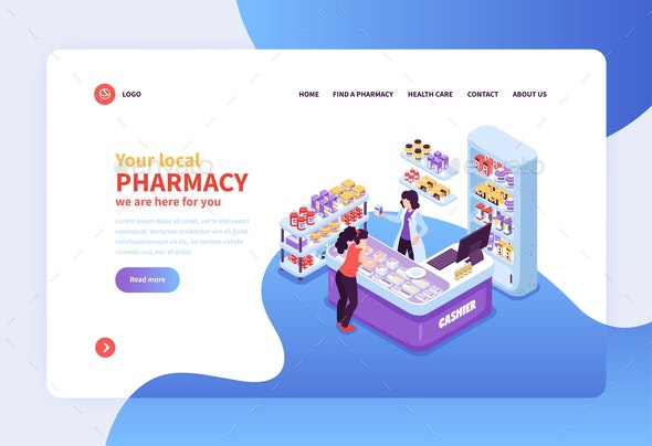 Pharmacy Concept Banner - Business Conceptual