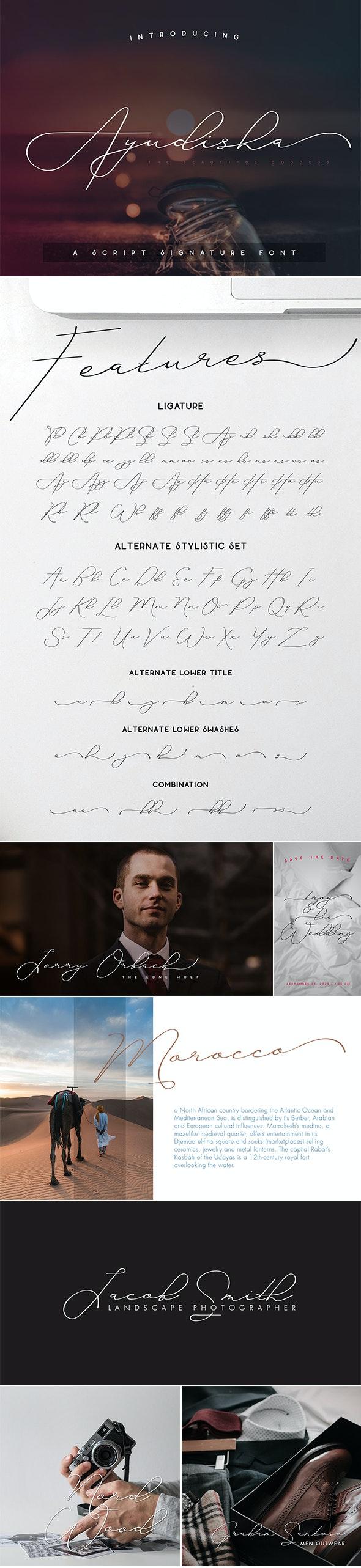 Ayudisha Font - Calligraphy Script
