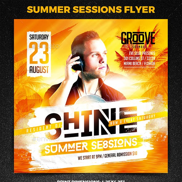 Summer Sessions Square Flyer vol.1