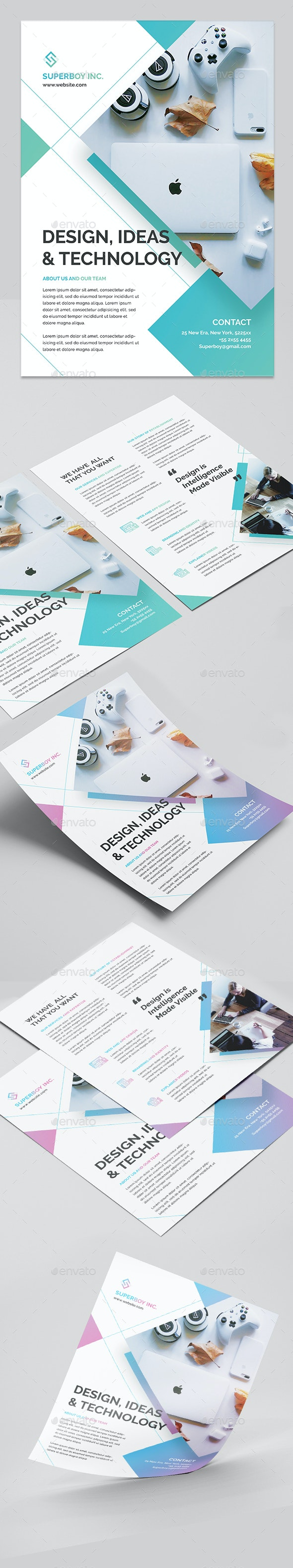Business Flyer Creative Double Side - Corporate Flyers
