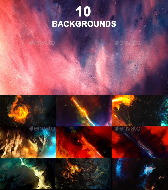 10 Space Background - Abstract Backgrounds