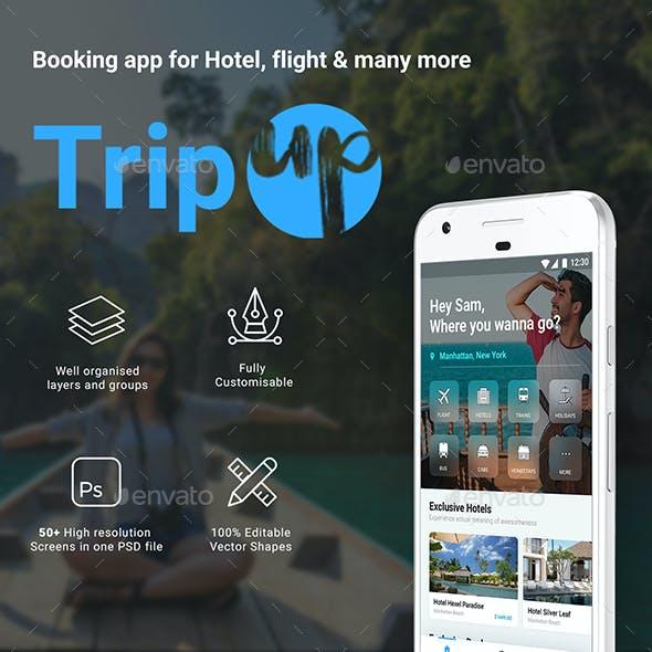 Flight Tickets, Holiday & Hotel Booking App UI Kit | TripUp