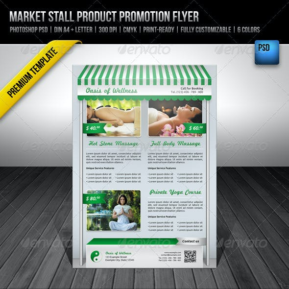 Market Stall Product Promotion Flyer