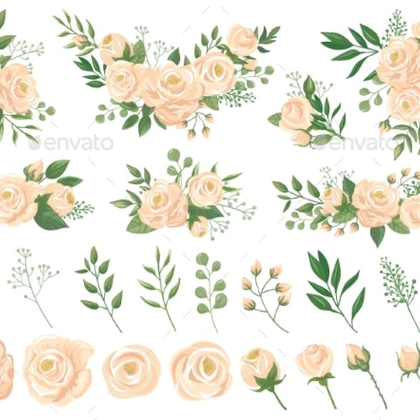 Floral Bouquet. Rose Flowers, Gardening Roses