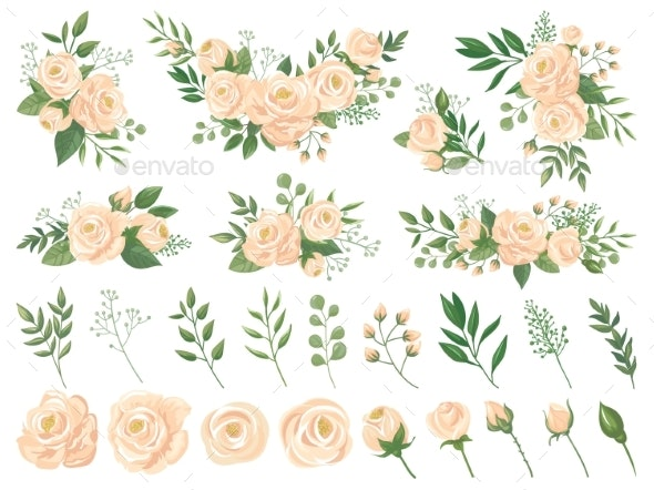 Floral Bouquet. Rose Flowers, Gardening Roses - Flowers & Plants Nature