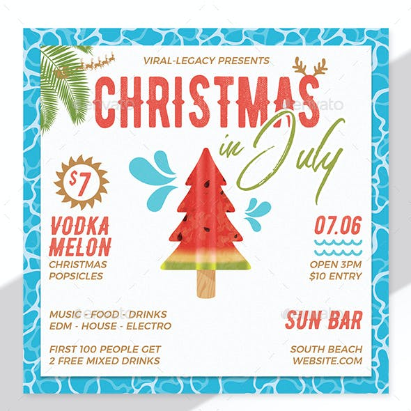 Christmas In July Invitations Free.Beach Invitation Graphics Designs Template From Graphicriver