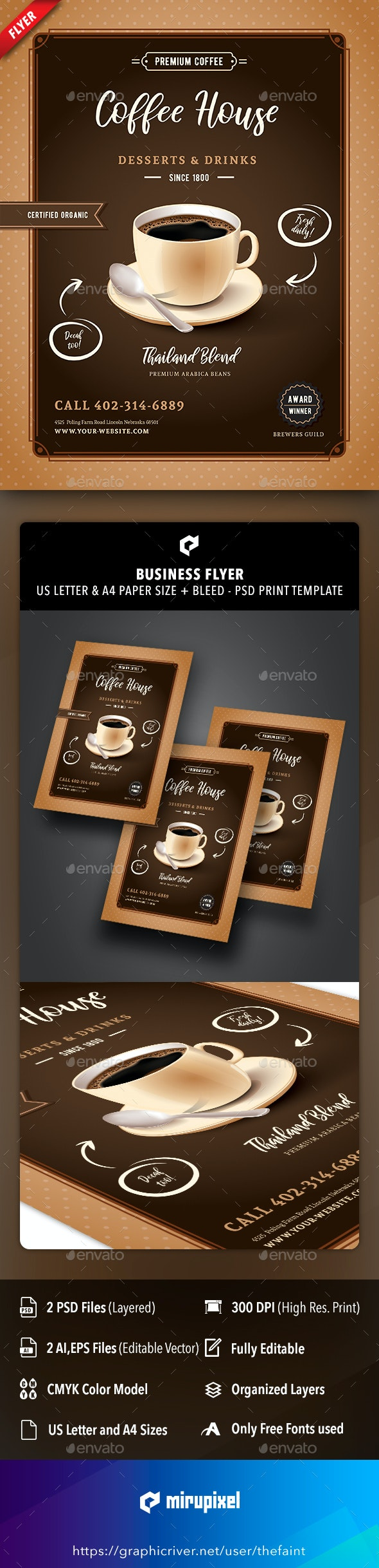 Coffee House Business Flyer - Commerce Flyers