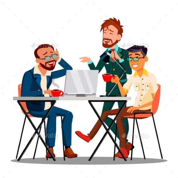 Informal Time At Work Characters Employees Vector - Business Conceptual