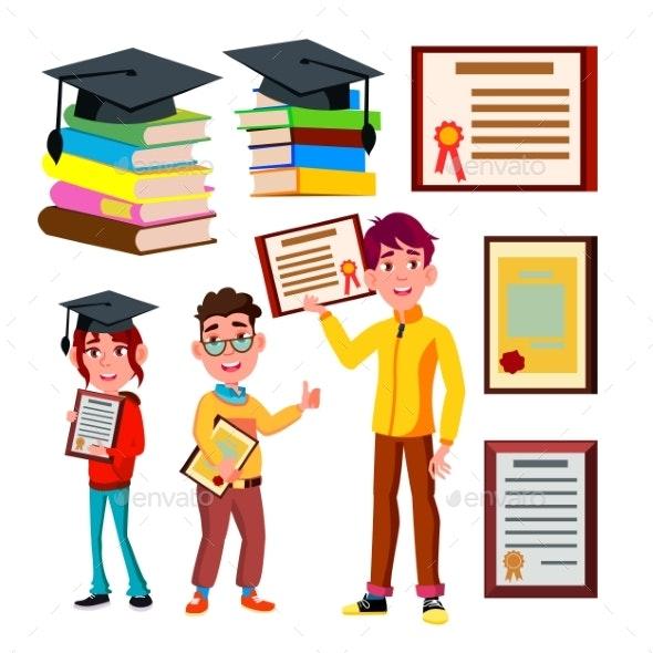 Student Academic Qualification Certificate Vector - Miscellaneous Vectors