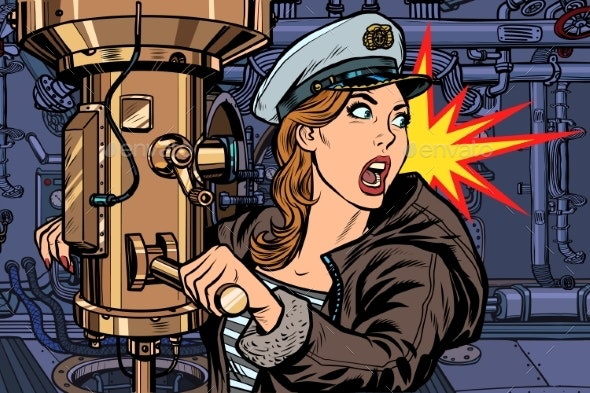 Submarine a Woman Captain, Battle Alert - People Characters