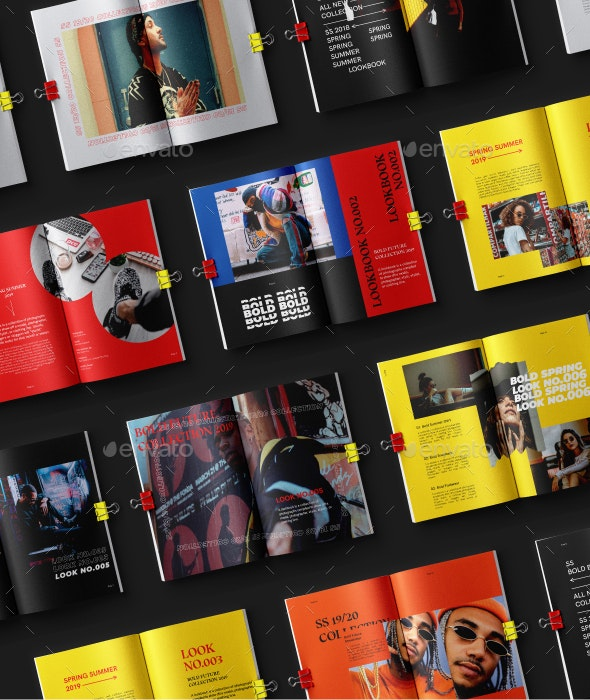 Bold-Fashion Lookbook Editorial - Magazines Print Templates