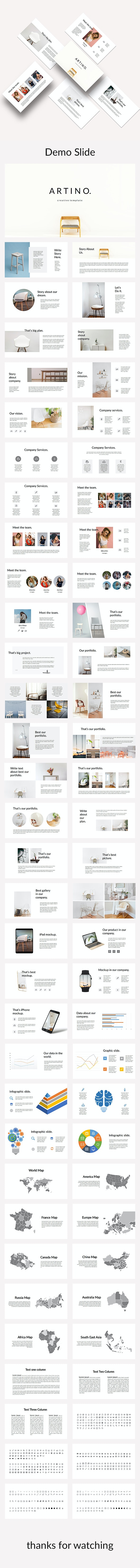 Artino - Creative Keynote Template - Creative Keynote Templates