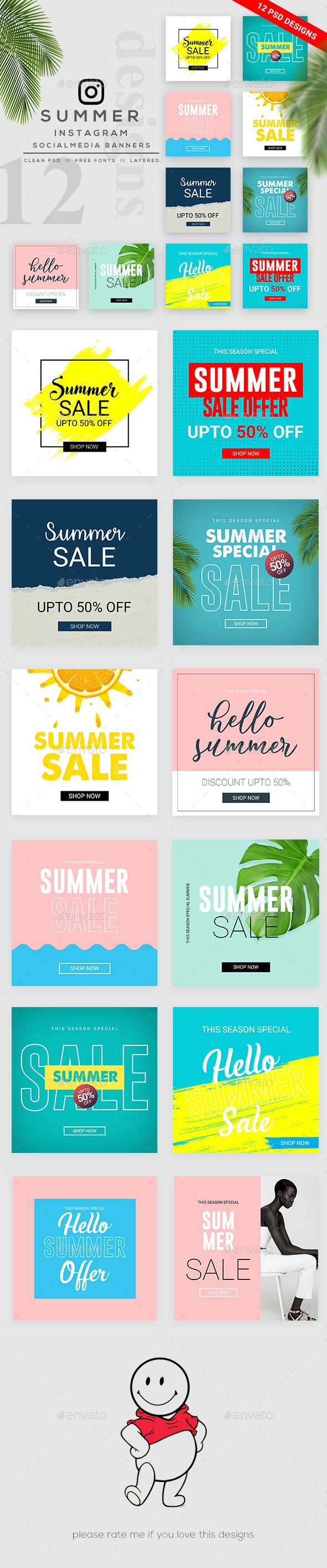 Summer Sale Instagram Banner - Banners & Ads Web Elements