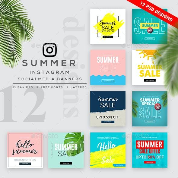 Summer Sale Instagram Banner