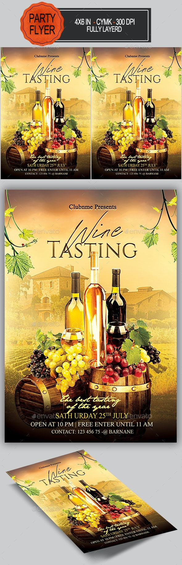 Wine Flyer - Miscellaneous Events