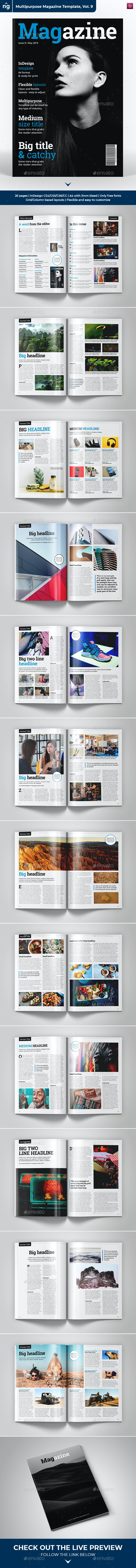 InDesign Magazine Template - 26 Pages - Magazines Print Templates