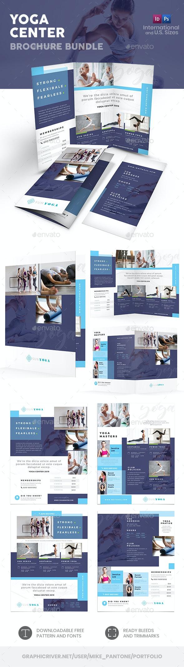 Yoga Center Print Bundle 4 - Informational Brochures
