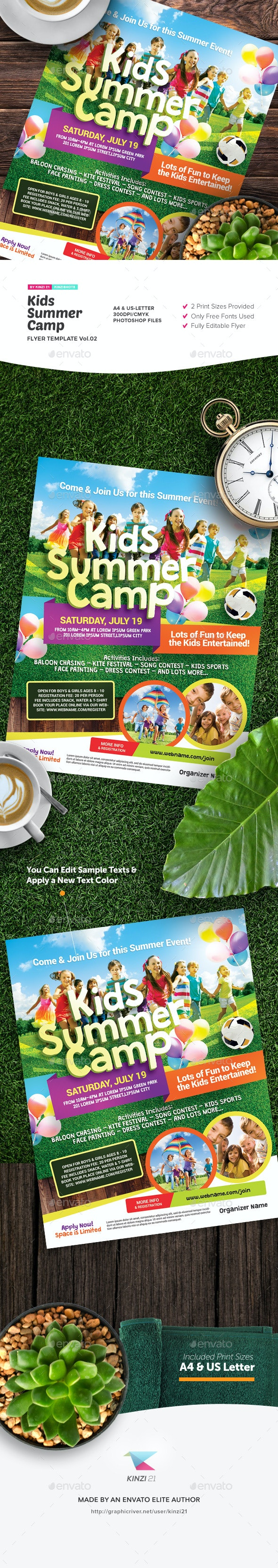 Kids Summer Camp Flyer Template Vol.02 - Miscellaneous Events