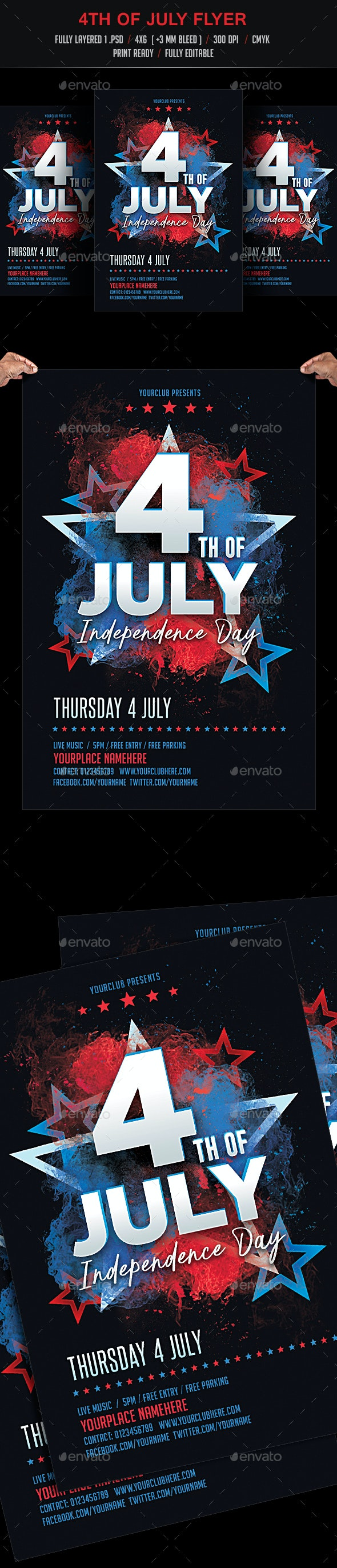 July 4th Flyer Template - Events Flyers