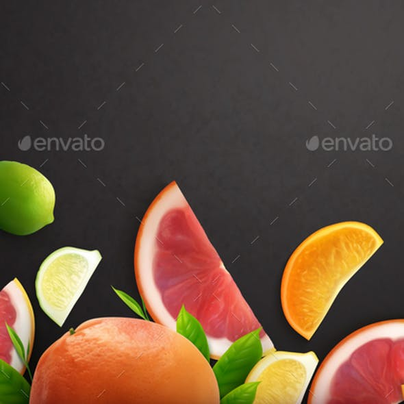 Citrus Realistic Background