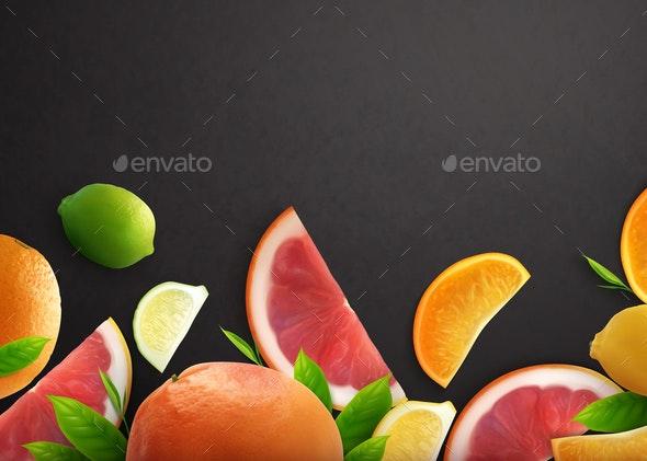 Citrus Realistic Background - Miscellaneous Vectors