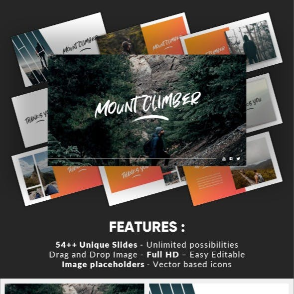 Mountclimb - Traveling Vacation Google Slides Template
