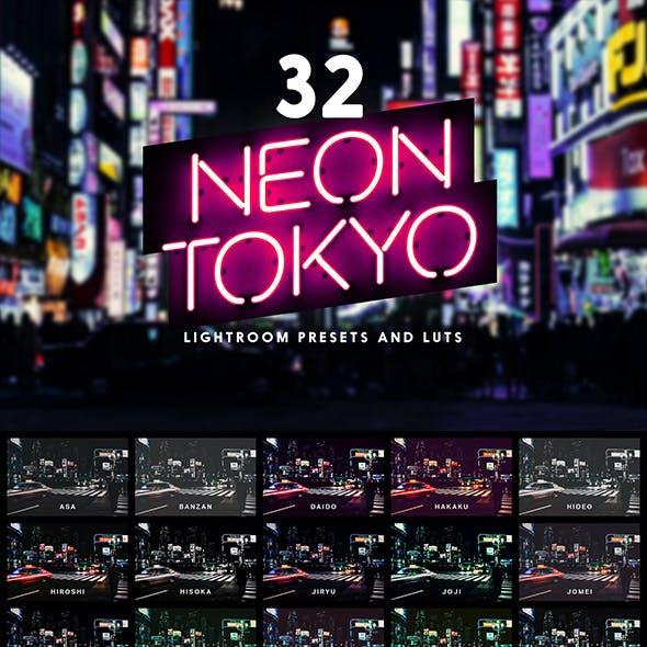 32 Neon Tokyo Lightroom Presets and LUTs