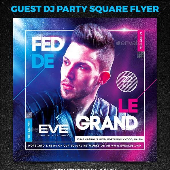 Guest DJ Party Square Flyer vol.1