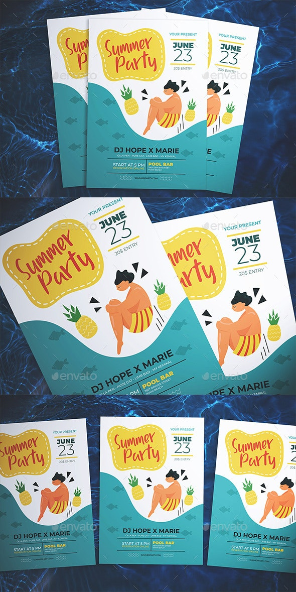 Cool Summer Party Flyer - Flyers Print Templates