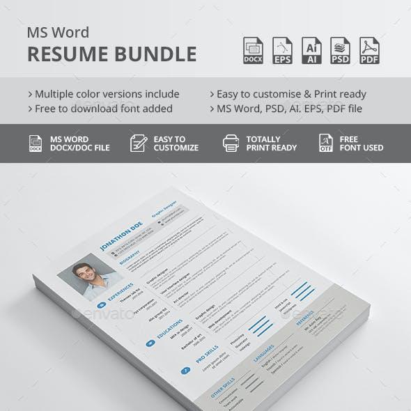 Ms Word Resume Bundle