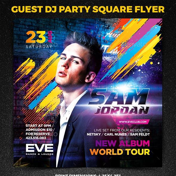 Guest DJ Party Square Flyer vol.2