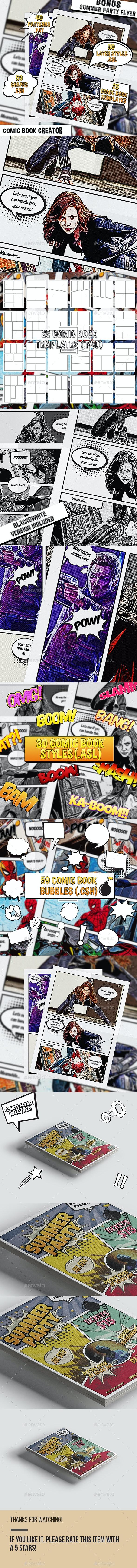 Comic Book Creator - Artistic Photo Templates
