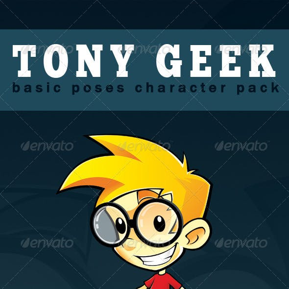 Tony Geek - Basic Poses Character Pack