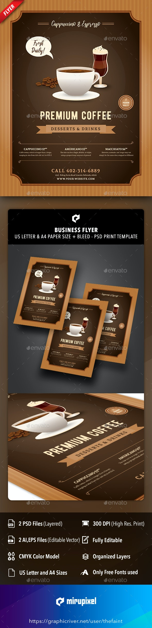 Coffee Place Business Flyer - Commerce Flyers