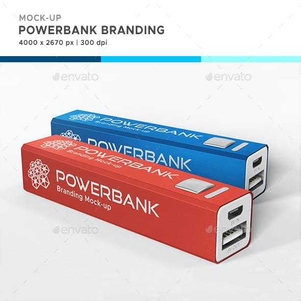 Powerbank Branding Mock-up
