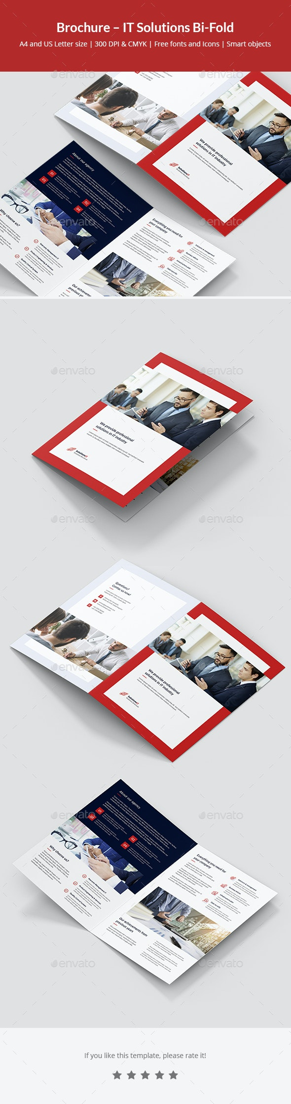 Brochure – IT Solutions Bi-Fold - Corporate Brochures