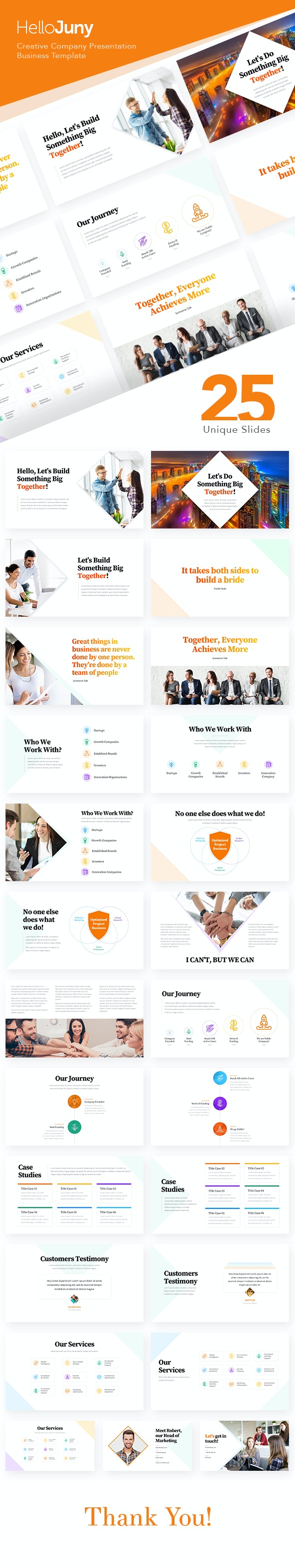 HelloJuny - Creative Company Business PowerPoint Template - PowerPoint Templates Presentation Templates
