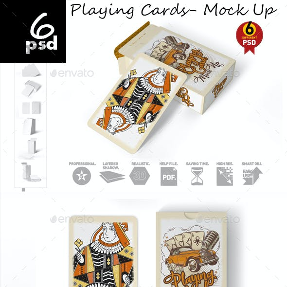 Playing Cards- Mock Up