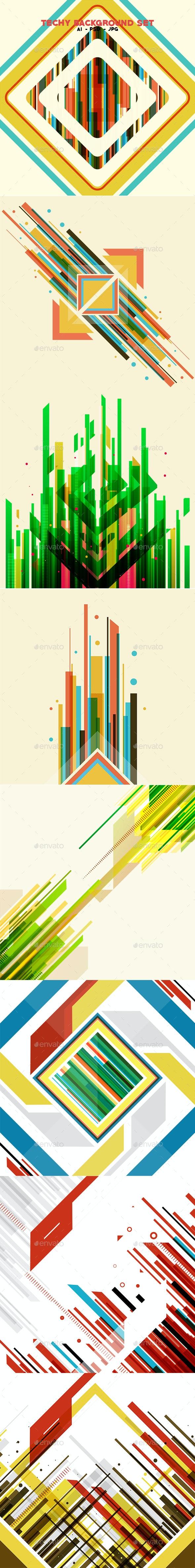 Techy Background Set - Tech / Futuristic Backgrounds