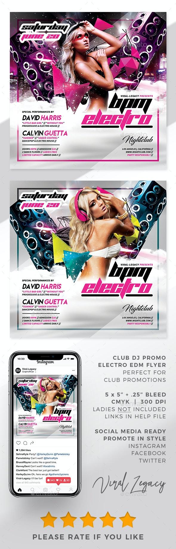 BPM Electro DJ Promo Flyer - Flyers Print Templates