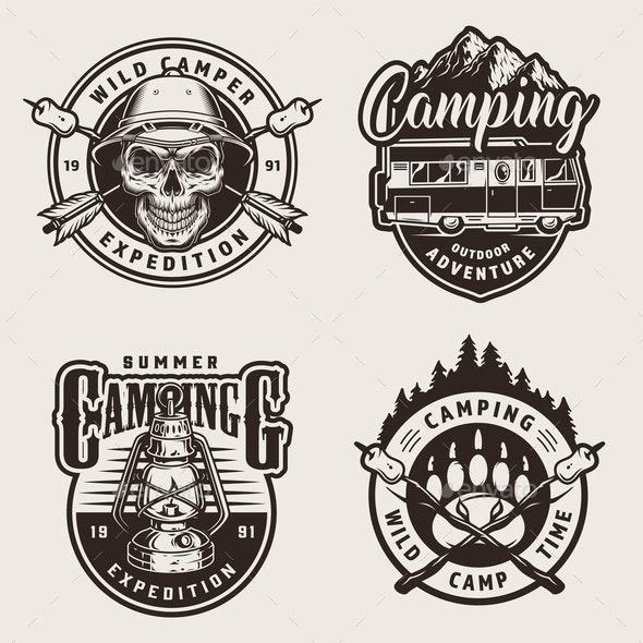 Outdoor Recreation Labels - Miscellaneous Vectors