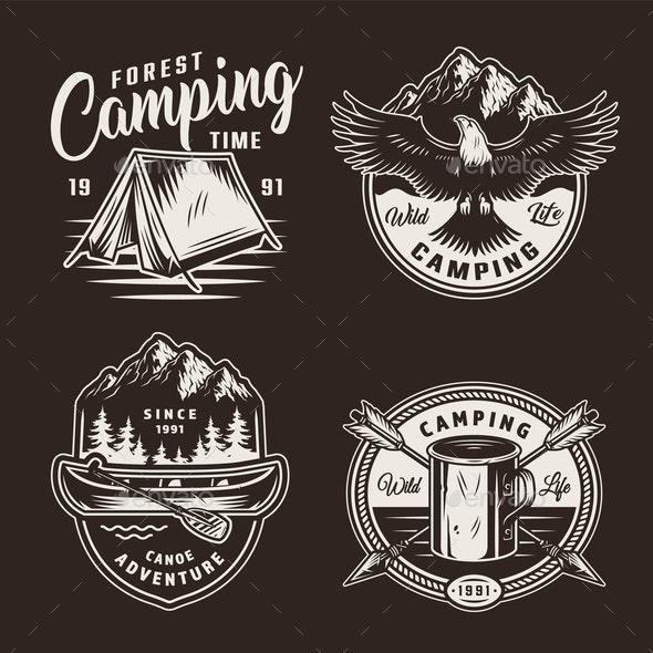 Summer Adventure Badges - Miscellaneous Vectors