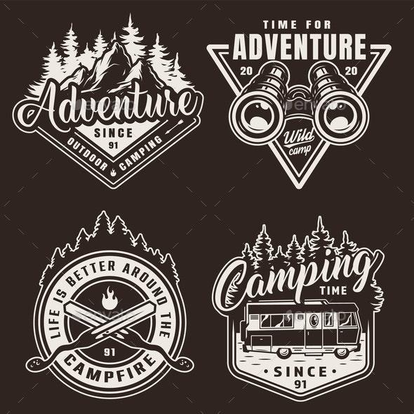 Camping Labels - Miscellaneous Vectors